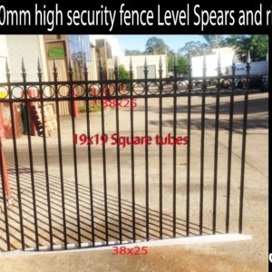 1200 high Oxley ring spear top fence
