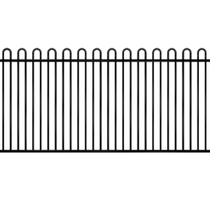 Loop Top Black Fence panel