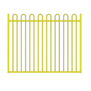 Loop Top gate for driveway or pool gate
