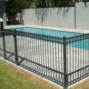 double rail with crosses on top