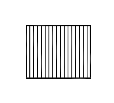 Flat top gate 1460 wide x 1200H Black