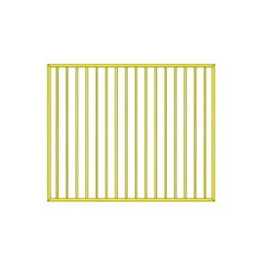 Flat top gate 1460 wide Primrose made out of Aluminium