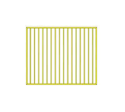 Flat top gate 1460 wide Primrose
