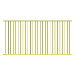 Flat top panel 2400 wide x 1200 H Primrose made out of Aluminium suitable for pool fence and garden fence.