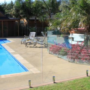 1200 high tempered Pool fence