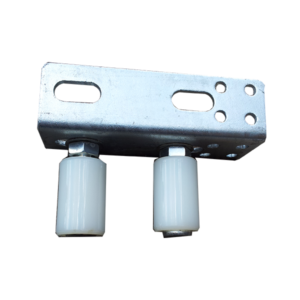 40x40White guide rollers with angle bracket