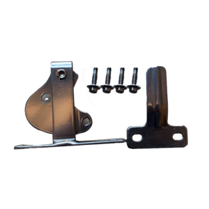 D Latch with screws (Black)