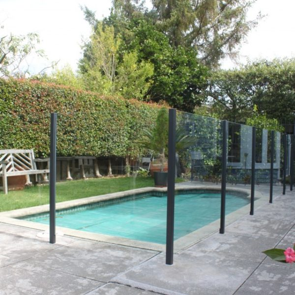Semi frame with powder coated posts