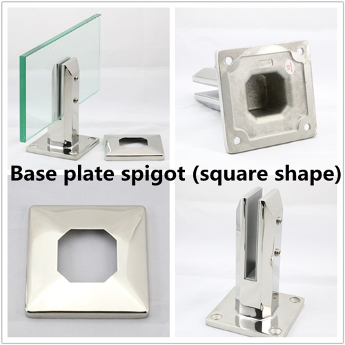 Square spigot with base cover plate