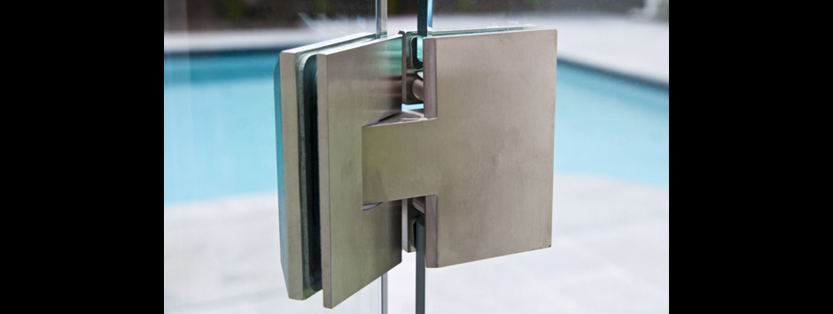 Hinges fencing store australia for Glass pool gate